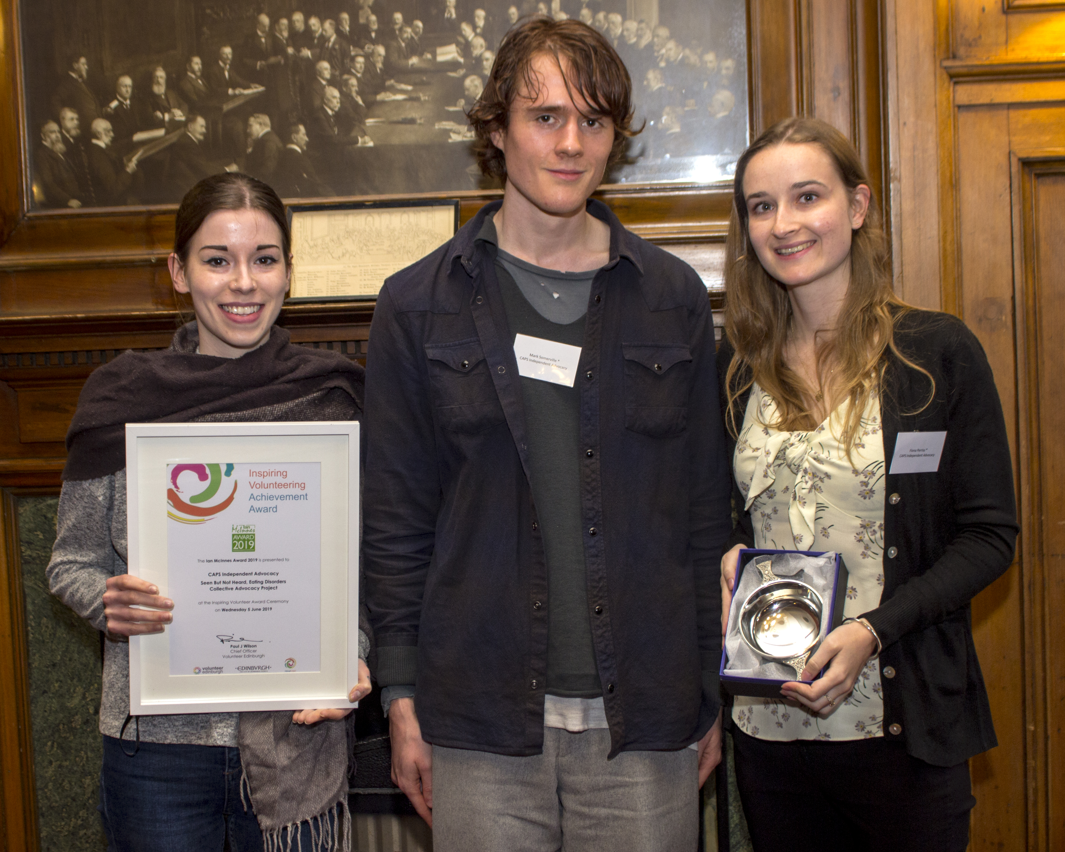 Photo of CAPS Independent Advocacy who were the recipients of the Ian McInnes Award 2019.