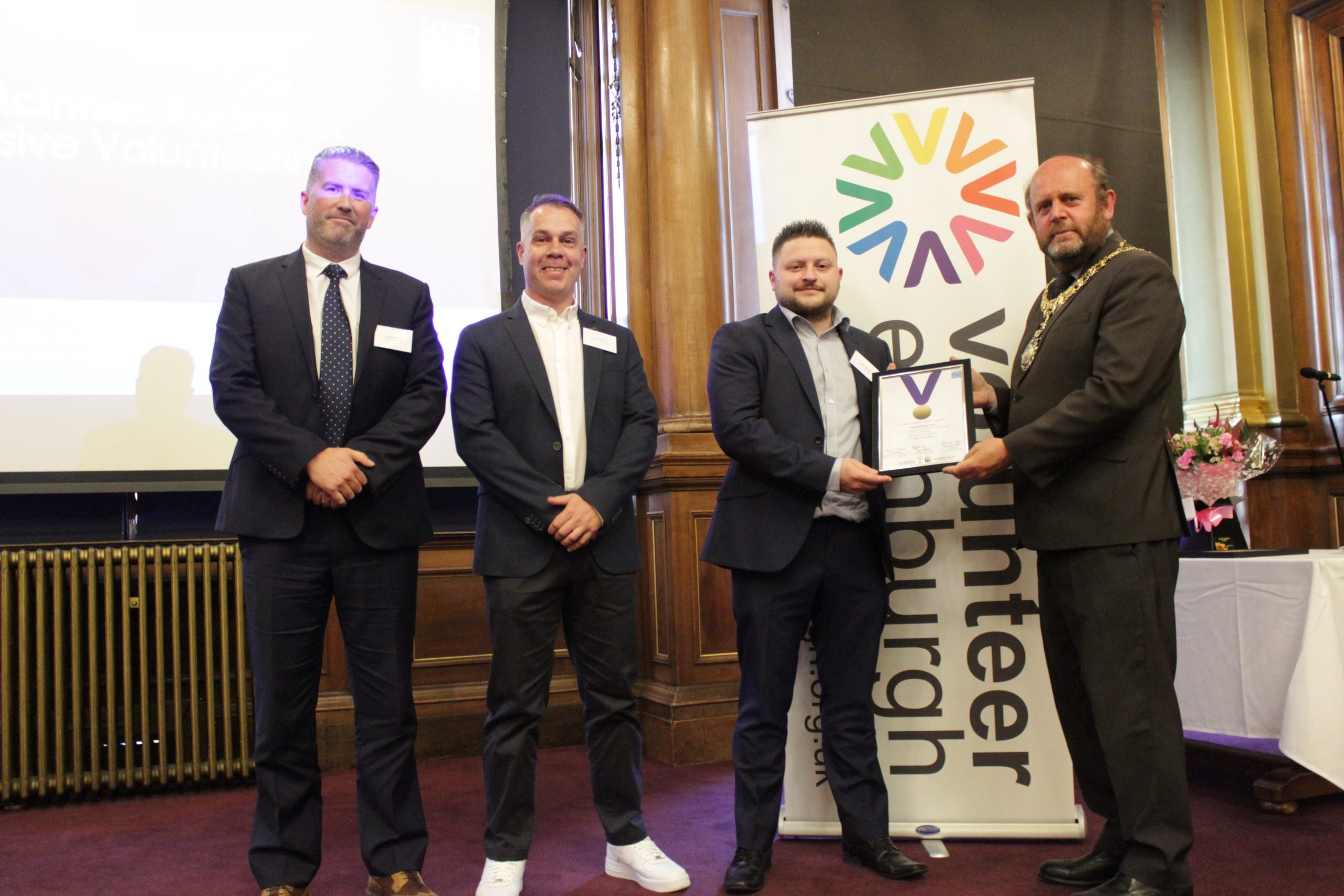 Photo of the Male Befriending Team of Held In Our Hearts who were the recipients of the Ian McInnes Award 2021